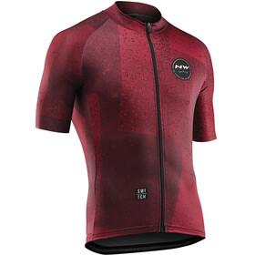 Northwave Abstract Bike Jersey Shortsleeve Men red